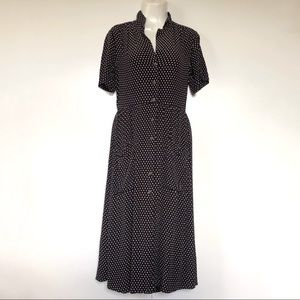 Urban Outfitters Medium Dress Vintage Button Polka